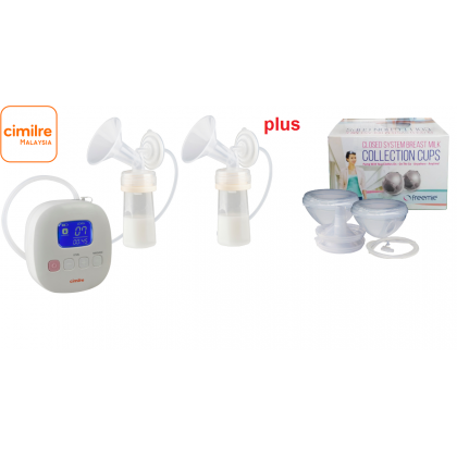 Cimilre - F1 Portable Double Braestpump + Freemie Collection Cups