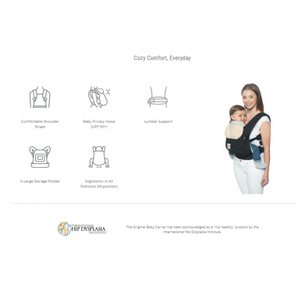 Ergobaby Original Baby Soft Carrier Marine